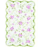 RugStudio presents The Rug Market America Kids Sweet Rose 31033 Pink / Green Hand-Hooked Area Rug