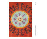 RugStudio presents The Rug Market America Camden Suzani 40337 Red/aqua/orange Hand-Tufted, Good Quality Area Rug