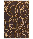RugStudio presents The Rug Market America Rexford Barney's Brown 44025 Brown/gold Hand-Tufted, Good Quality Area Rug