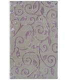 RugStudio presents The Rug Market America Rexford Fogli Lavander 44327 Lavender Hand-Tufted, Good Quality Area Rug