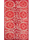RugStudio presents The Rug Market America Camden Suzani Tile Red Red/Coral/Ivory Hand-Tufted, Good Quality Area Rug