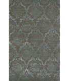 RugStudio presents The Rug Market America Julia Wong Designs Damask Taupe Taupe/Blue Hand-Tufted, Good Quality Area Rug