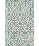 RugStudio presents The Rug Market America Julia Wong Designs Elligant Grille Blue Cream/Blue/Green Hand-Tufted, Good Quality Area Rug