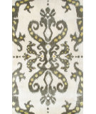 RugStudio presents The Rug Market America Julia Wong Designs Ethnic Damask Cream/Gray/Yellow Hand-Tufted, Good Quality Area Rug