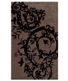RugStudio presents The Rug Market America Ecconox Cosa Bella 72303 Chocolate/black Hand-Tufted, Good Quality Area Rug