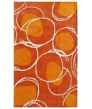 RugStudio presents The Rug Market America Ecconox Lysander 72412 Orange/white Hand-Tufted, Good Quality Area Rug