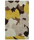 RugStudio presents The Rug Market America Ecconox Love-in-idleness 72419 Cream/beige/yellow Hand-Tufted, Good Quality Area Rug