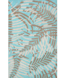 RugStudio presents The Rug Market America Ecconox Las Palmas Aqua/Tan/Ivory Hand-Tufted, Good Quality Area Rug