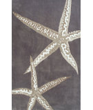 RugStudio presents The Rug Market America Ecconox Sea Stars Taupe Hand-Tufted, Good Quality Area Rug