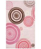 RugStudio presents The Rug Market America Kids Shanti 74007 Pink/white/brown Hand-Tufted, Good Quality Area Rug
