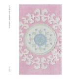 RugStudio presents The Rug Market America Kids Suzani Pink 74043 Pink/white/blue Hand-Tufted, Good Quality Area Rug