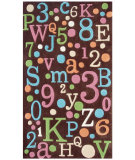RugStudio presents The Rug Market America Kids Back To School 74058 Brown/multi Hand-Tufted, Good Quality Area Rug