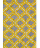 RugStudio presents The Rug Market America Pop Accents Marrakesh Grey/Yellow Hand-Hooked Area Rug