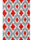 RugStudio presents The Rug Market America Pop Accents Ethnic Red/Grey/White Hand-Hooked Area Rug