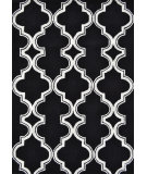 RugStudio presents The Rug Market America Pop Accents Jafar Black/White Hand-Hooked Area Rug