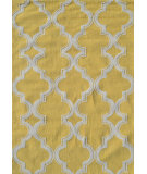 RugStudio presents The Rug Market America Pop Accents Jafar Yellow/White Hand-Hooked Area Rug