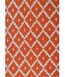 RugStudio presents The Rug Market America Pop Accents Tangier Orange/White Hand-Hooked Area Rug
