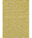 RugStudio presents The Rug Market America Pop Accents Yang Yellow/White Hand-Hooked Area Rug