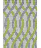 RugStudio presents The Rug Market America Pop Accents Tangled Gray/Green/Whte Hand-Hooked Area Rug