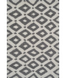 RugStudio presents The Rug Market America Pop Accents Charter Gray/White Hand-Hooked Area Rug