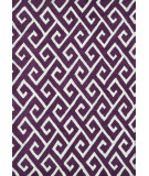 RugStudio presents The Rug Market America Pop Accents Greek Aubergine/White Hand-Hooked Area Rug