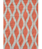 RugStudio presents The Rug Market America Pop Accents Squiggle Coral/White Hand-Hooked Area Rug