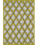 RugStudio presents The Rug Market America Pop Accents Diamonds Yellow/Gray/White Hand-Hooked Area Rug