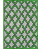 RugStudio presents The Rug Market America Pop Accents Diamonds Green/Gray/White Hand-Hooked Area Rug