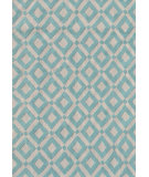 RugStudio presents The Rug Market America Pop Accents Charter Blue/White Hand-Hooked Area Rug