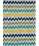RugStudio presents The Rug Market America Pop Accents Chevron Multi Hand-Hooked Area Rug