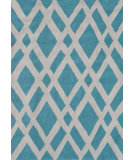 RugStudio presents The Rug Market America Pop Accents Terrena Aqua/White Hand-Hooked Area Rug