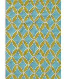 RugStudio presents The Rug Market America Pop Accents Diamonds Green/Blue Hand-Hooked Area Rug