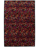 RugStudio presents Tibet Rug Company 100 Knot Premium Tibetan Bottlecaps Black Hand-Knotted, Best Quality Area Rug