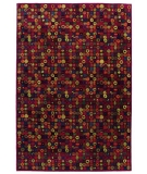 RugStudio presents Tibet Rug Company 100 Knot Premium Tibetan Bottlecaps Red Hand-Knotted, Best Quality Area Rug