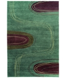 RugStudio presents Tibet Rug Company 60 Knot Premium Tibetan Meander Teal Hand-Knotted, Best Quality Area Rug