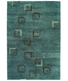 RugStudio presents Rugstudio Famous Maker 39100 Blue Hand-Knotted, Better Quality Area Rug