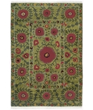 RugStudio presents Rugstudio Sample Sale 8051R Green Hand-Knotted, Best Quality Area Rug