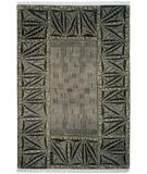 RugStudio presents Tibet Rug Company 60 Knot Premium Tibetan Serengeti Grey Hand-Knotted, Best Quality Area Rug