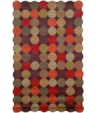RugStudio presents Trans-Ocean Amalfi Circles Brown 1958/19 Hand-Tufted, Better Quality Area Rug