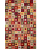 RugStudio presents Trans-Ocean Amalfi Square In Square Red 1966/27 Hand-Tufted, Better Quality Area Rug