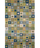 RugStudio presents Trans-Ocean Amalfi Square In Square Blue 1966/04 Hand-Tufted, Better Quality Area Rug