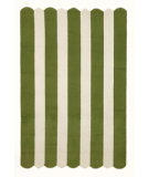 RugStudio presents Trans-Ocean Capri Fence Stripe Moss 1614/16 Hand-Tufted, Better Quality Area Rug