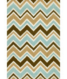 RugStudio presents Trans-Ocean Capri See Saw Aqua 1618/04 Hand-Tufted, Better Quality Area Rug