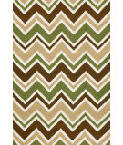 RugStudio presents Trans-Ocean Capri See Saw Green 1618/16 Hand-Tufted, Better Quality Area Rug