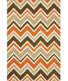 RugStudio presents Trans-Ocean Capri See Saw Orange 1618/17 Hand-Tufted, Better Quality Area Rug
