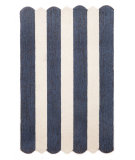RugStudio presents Trans-Ocean Capri Fence Stripe Denim 1614/33 Hand-Tufted, Better Quality Area Rug
