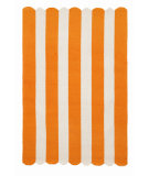 RugStudio presents Trans-Ocean Capri Fence Stripe Orange 1614/17 Hand-Tufted, Better Quality Area Rug