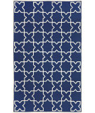 RugStudio presents Trans-Ocean Capri Morroccan Tile Navy 1606/03 Hand-Tufted, Better Quality Area Rug