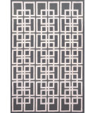 RugStudio presents Trans-Ocean Capri Oriental Square Charcoal 1609/47 Hand-Tufted, Better Quality Area Rug
