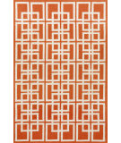 RugStudio presents Trans-Ocean Capri Oriental Square Orange 1609/17 Hand-Tufted, Better Quality Area Rug